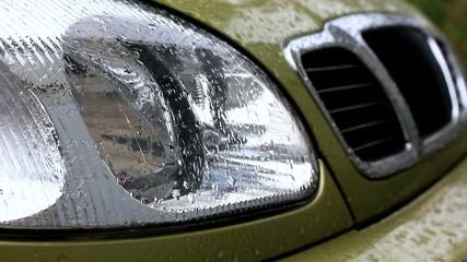 Car under the rain