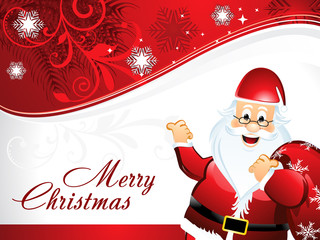 Christmas background with santa claus