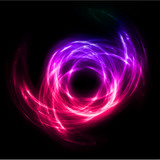 Abstract lights lines twist background. Vector