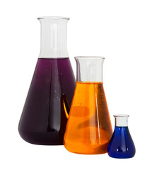 Chemistry conical flasks