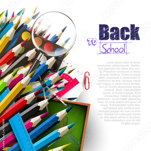 Back to school - vector background with place for text