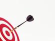 Dart on red target