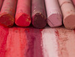 red artistic crayons