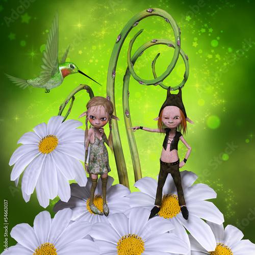 Deurstickers Feeën en elfen Elfs