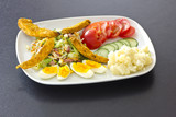 summer chicken salad dish
