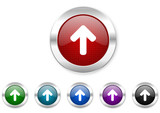 arrow up icon set