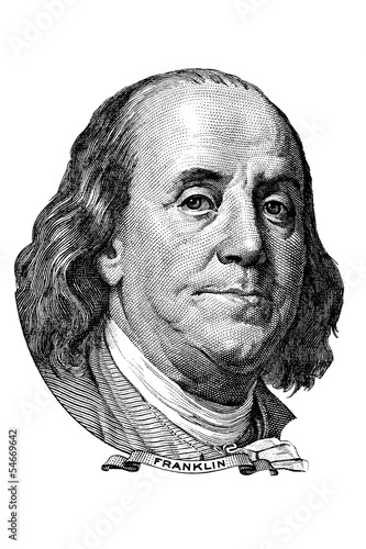 Benjamin Franklin (head to the left)