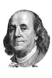 Benjamin Franklin (head to the right)