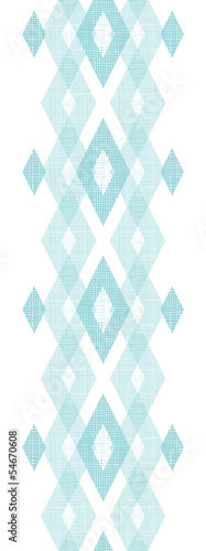 Vector pastel blue fabric ikat diamond vertical seamless pattern