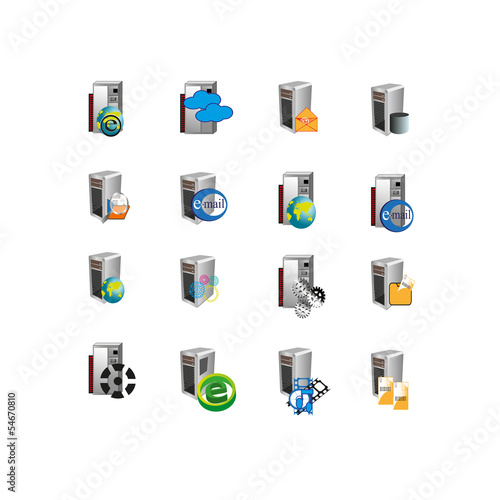 Collection of Web icon,symbol for enterprise servers