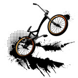 Bmx bicycle grunge background