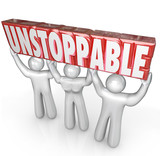 Unstoppable Team Lifting Word No Limits Determination poster