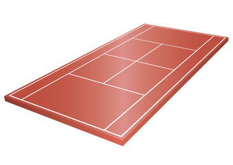 Tennisplatz 3D ohne Netz