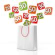 Tragetasche mit Angeboten - 3D Illustration