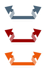 The set of origami double arrows