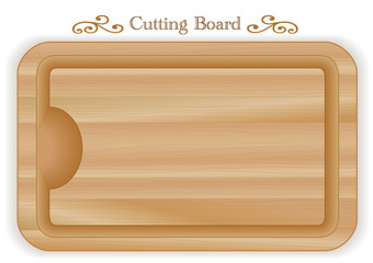 Cutting, carving board with well, wood grain detail, rectangle