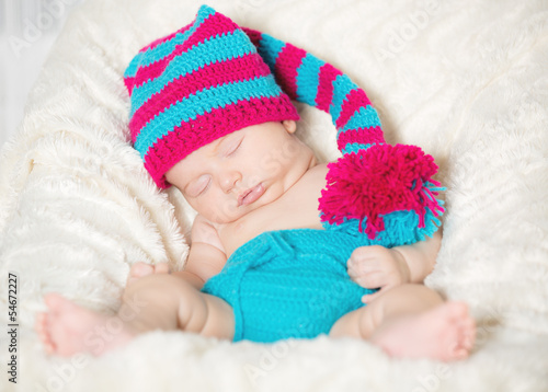 Funny sleeping infant