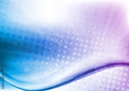 Abstract grunge waves background. Gradient mesh included