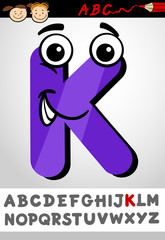 funny letter k cartoon illustration
