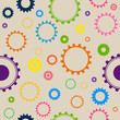 Vector Seamless Background Pattern with Cog Wheels