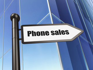 Advertising concept: Phone Sales on Building background