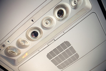 Airplane overhead console