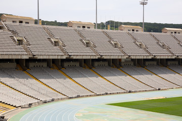 Tribunes of olympic stadium