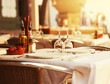 Restaurant table at sunset - 54676468