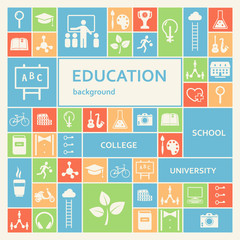 Education Icons Background