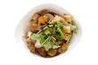 Frischer Poulet Salat mit Croutons  Freisteller