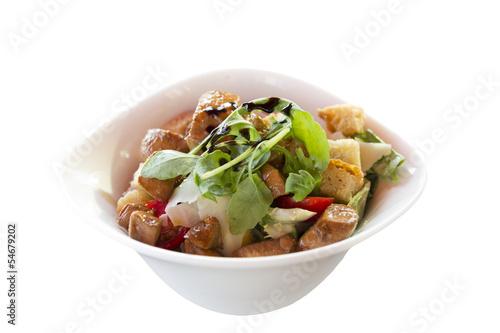 Poulet Salat Freisteller
