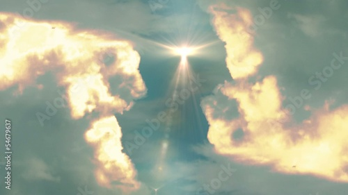 Heavenly clouds transition background