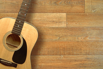 Guitar on floor