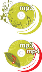Mp3 and mp4. Icons for design