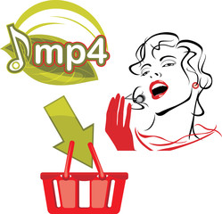 Mp4 download. Icon for design