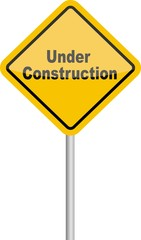 panneau under construction