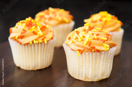 Four Fall Cupcakes