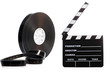 Film reel and cinema clap