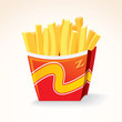 Fast Food Vector Icon. French Fries Potato Bucket.