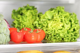 Various vegetable in refrigerator