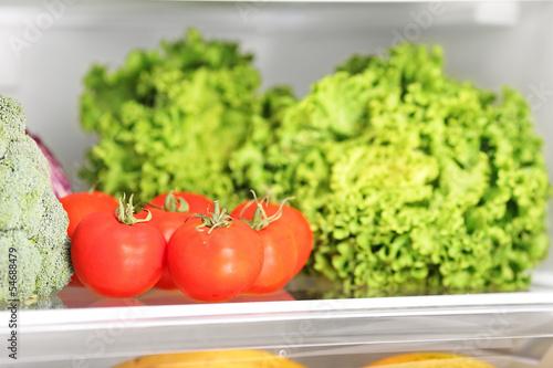 Various vegetable in refrigerator