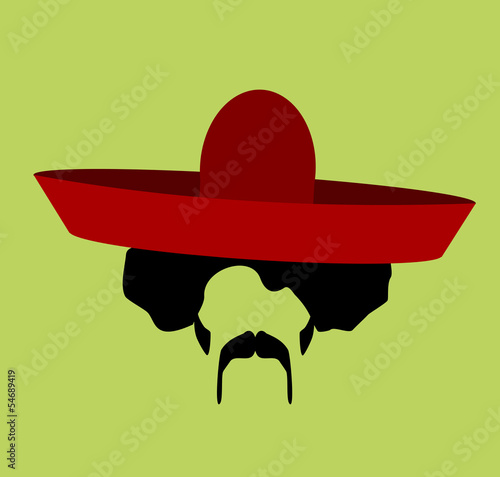 man with afro and sombrero