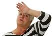Seniorin hat Hitzewallungen