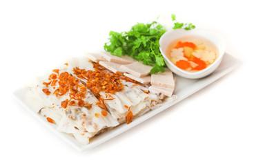 ciasto ryż sajgonek makaron ryżowy kolendra marchew rzepa