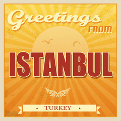 Vintage Istambul, Turkey poster