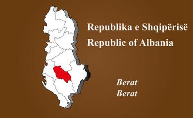 Albanien - Berat hervorgehoben
