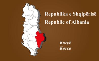 Albanien - Korce hervorgehoben