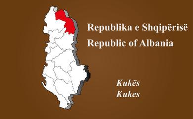 Albanien - Kukes hervorgehoben