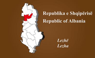Albanien - Lezha hervorgehoben