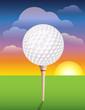 Golf Ball on Tee Background